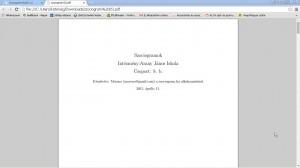A jelentés első lapja. Igazából nem is Moreno készítette.